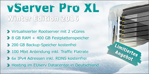 vServer Pro XL Winter Edition 2016